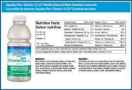vitamin enhanced water fuji apple pear aquafina plus vitamins 10 cal vitamin enhanced water strawberry lemonade