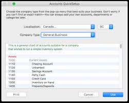 Chart Of Accounts For Technology Company Chart Of Accounts