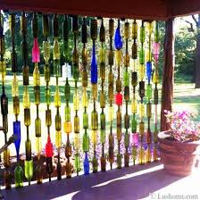 Decorating With Colored Glass Bottles