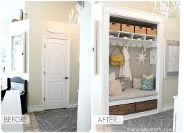 Image Entryway Closet Turn Closet Into Storage Nook Makespace 15 Amazing Entryway Storage Hacks Ideas Youll Love