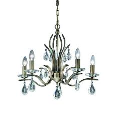 franklite willow 5 light bronze fitting with crystal drops fl2299 5