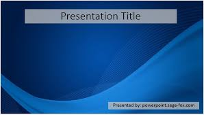 wave powerpoint templates free simple blue wave powerpoint template 3918 13937 free