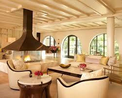 4 x 4 custom gas fireplace contemporary living room