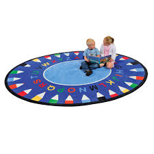 kids abc pencil learning rug round