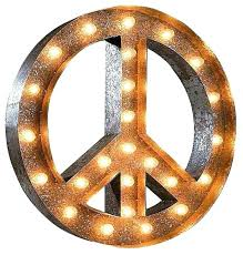 outdoor peace sign light lighted elegant vintage marquee contemporary wreath fresh the worlds outdoor peace sign