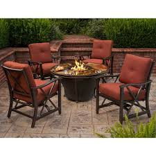 round gas fire pit table. Round Fire Pit Table, Glass Beads, Cover, Rocking Chairs And Cushions Gas Table E