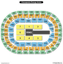 Chesapeake Seating Chart Chesapeake Seat Map Chesapeake Arena Seating Map Oklahoma