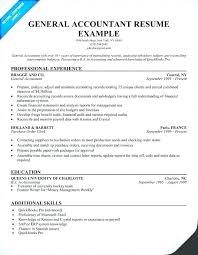 Accountant Resume Sample Resume Of Accounting Clerk Junior Accountant Resume General 50