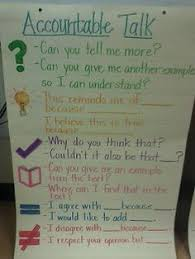 Accountable Talk Anchor Chart Accountable Talk In The Elementary Classroom Google Search