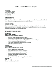 Sample Resume For Job Abroad Example Of Simple Good Fresh Examples