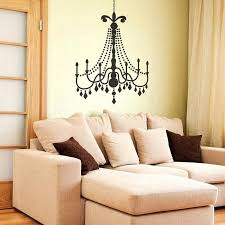 chandelier wall decal large black glamour chandelier on a light tan wall chandelier wall decal