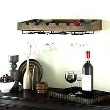wine rack wall mount wood mounted hanging glass ikea holder