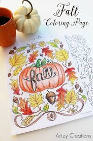 Thanksgiving Crafts Fall Coloring Page Printable