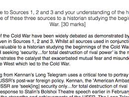 charis mcinnes s shop teaching resources tes history a level russia section a exemplar essay beginnings of the cold war