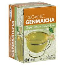 Eden Foods, <b>Organic Genmaicha</b>, Green Tea with <b>Brown</b> Rice, 16 ...