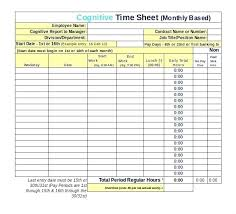 Bi Weekly Time Card Calculator Excel Log In Out Template Capable ...