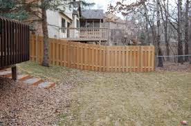 how to build a wooden fence on slope designs
