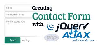 simple contact form simple contact form using jquery ajax php tutorial