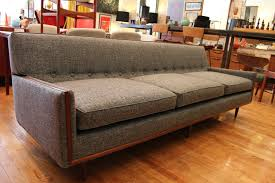 Plain Vintage Mid Century Modern Couch Grey Sofa An With Ideas