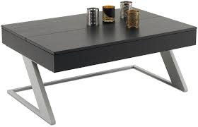 contemporary coffee table mdf steel rectangular