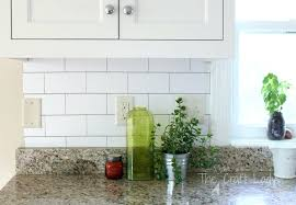 make a white subway tile temporary with removable wallpaper follow this tutorial for backsplash raised kitchen