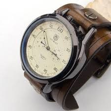 mens leather watch men leather cuff from jullyet on mens leather watch men leather cuff watch army sport military wrist watch