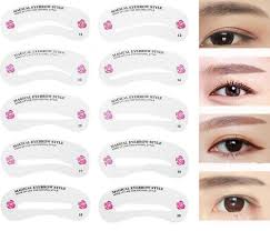 details about 24 styles eyebrow shaping stencils grooming kit shaper template makeup tool diy