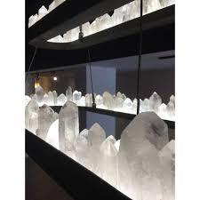 james vilona one of a kind quartz crystal hand made led chandelier