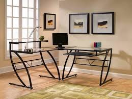 l shaped desk for two people. Plain Shaped L Shaped Glass Computer Desk For Two People To For