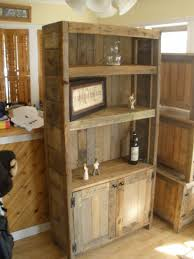 Shelves Made From Pallets Barnwood Bookcase Barnwood Pinterest Pallets Woods And
