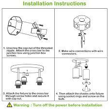 3 light semi flush mount ceiling light