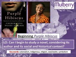gcse literature purple hibiscus by a chancer teaching resources purple hibiscus week 1 ppt