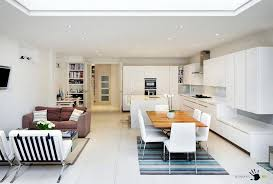 cozy living furniture. Cozy Living Space With Open Plan Idea Modern And Stylish Furniture For Decorating The Dining Area Also An L Shaped Kitchen