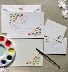 hand painted wedding invitations with hand drawn flowers perfect Handmade Wedding Invitations With Flowers hand painted wedding invitations with hand drawn flowers perfect for garden wedding Unique Butterfly Wedding Invitations