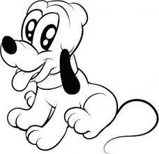 Baby Pluto Con Occhi Dolci Disegno Da Stampare E Colorare Disegni
