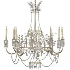 swedish crystal chandelier silver leaf