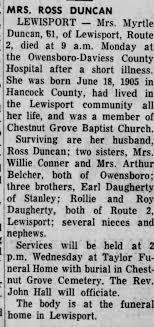Obituary for DUNCAN - Newspapers.com