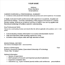 Free Resume Writing Templates