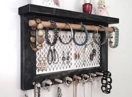Hanging Necklace Organizer Jewelry Organizer Wall Hanging Necklace Holder Earring Holder
