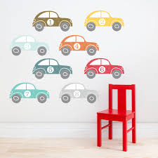 boys wall stickers 106x106 vintage racers
