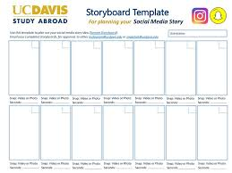 How To Plan A Story Template Storyboard Template Social Media Story For Planning Your