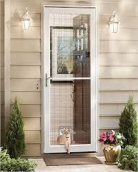screen door with pet door home