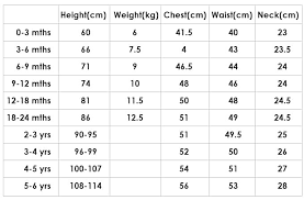 Size Chart Just Chillin Baby Clothes Online South Africa