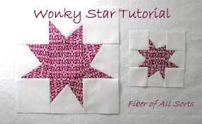 Fiber of All Sorts: My Favorite Quilt Block - Wonky Star & Wonky Star - Tutorial Adamdwight.com