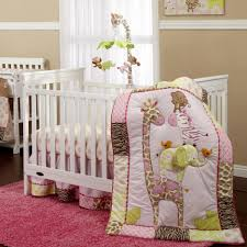 unusual design baby crib bedding ideas features white wooden safari baby nursery bedding jungle animal