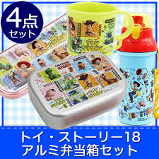 entrance to entering a kindergarten for the タイトアルミ lunch box four points set disney lunch box plastic gl spoon fork water bottle character