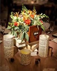 vine centerpieces vine library old books theme o old books centerpieces 3 diy weddings and events