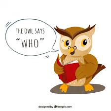 owl background reading a book free vector