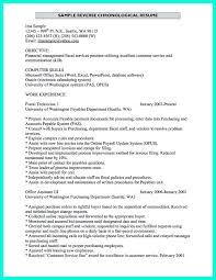 Cover Letter Chronological Resume Sample Chronological Resume