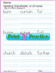 # not suitable for all phones. Ir Er Ur Worksheets Practice Phonics Words